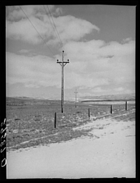 Power line. Uinta County, Wyoming