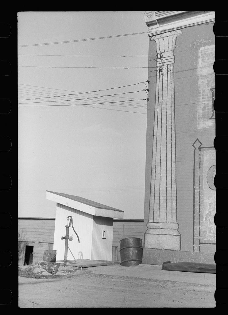 Privy pump and pillar, Woodbine, Iowa