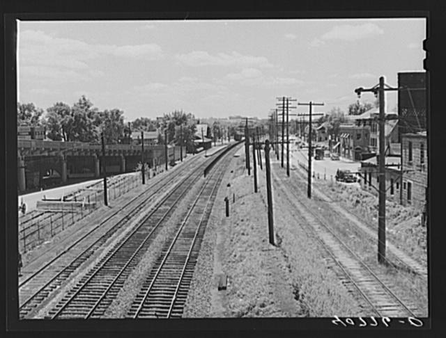 Railroad tracks along U.S. No. 1 at Hyattsville, Maryland
