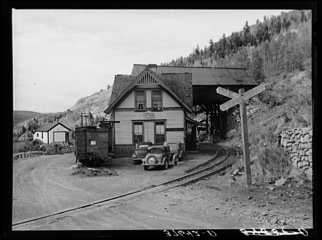 Railway station at Ophir, Colorado