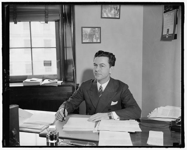 Rep. Joseph E. Casey, Demo. of Mass., Feb. 1940