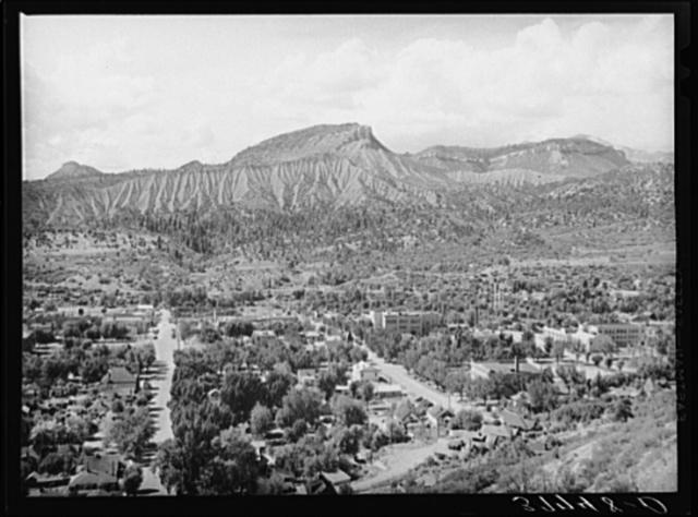 Residential district of Durango, Colorado. Durango is trading, shipping and distribution center of southwestern Colorado