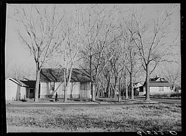 Residential section, Aberdeen, South Dakota. This is one of few towns with plenty of trees. They were brought here when the town was first settled by Easterners