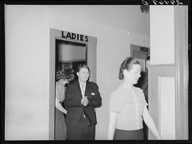 Restroom, dance hall. Marshalltown, Iowa