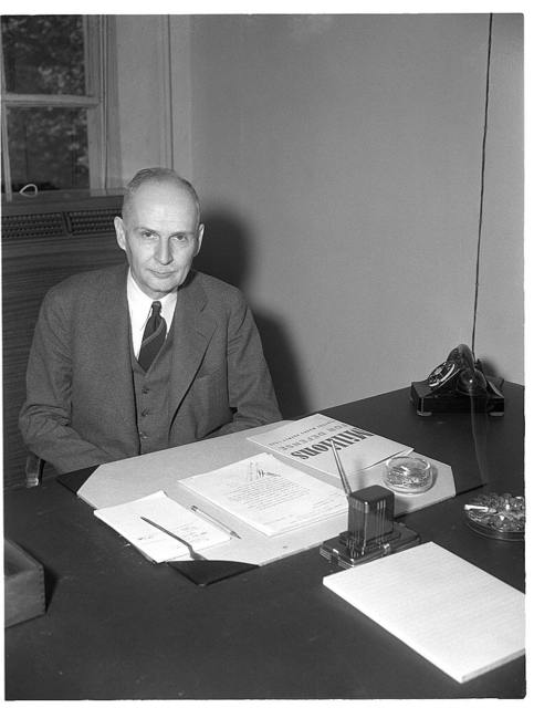 Robert L. Hallett, Consultant on Tin, Metals and Minerals Section, Office of Production Management (OPM). Chief Chemist of National Lead Company