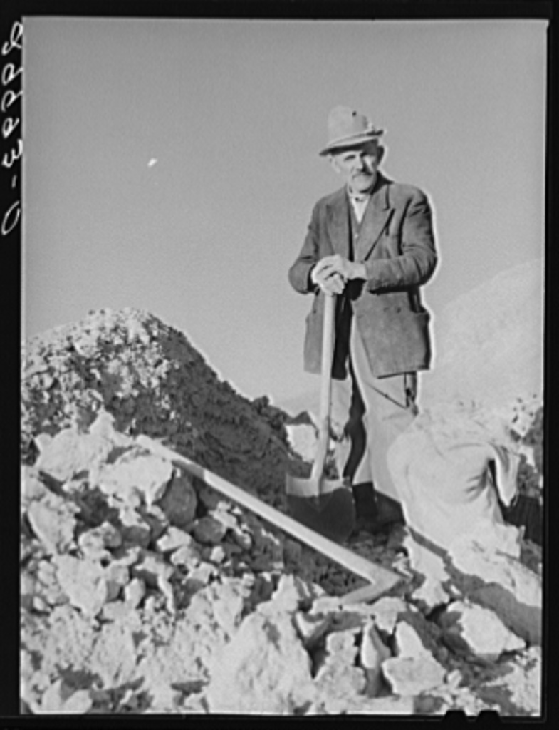 Rocky Mountain George Old Prospector At His Diggings Esmeralda
