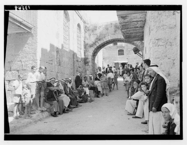 """Ruth"" story. Beit Sahur Street (nun at gate of city)"