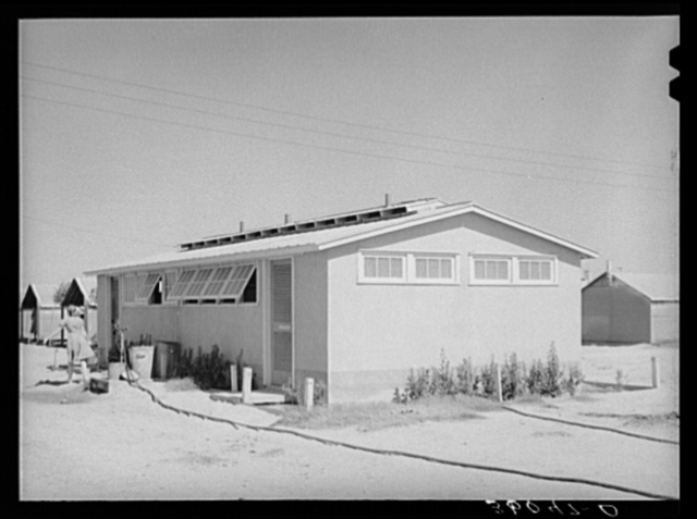 Sanitary unit at the Agua Fria migratory labor camp. Arizona