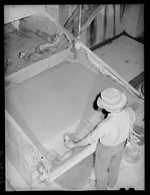 Settling tank in gold ore. Mill. El Dorado Canyon, Nevada