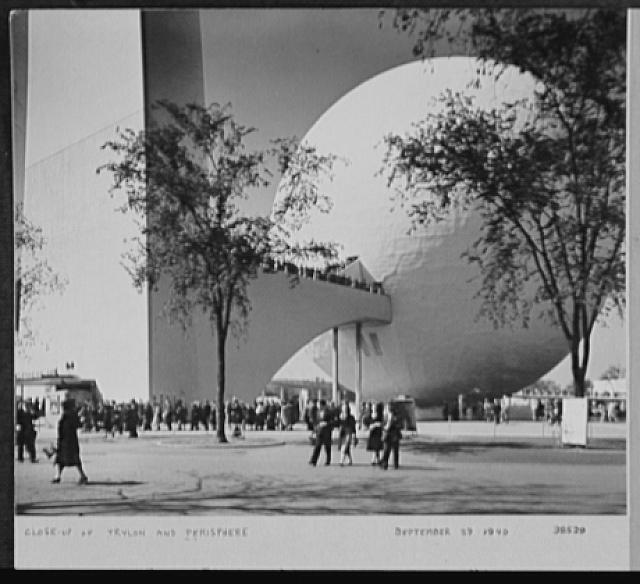 Seventy-one years, or, My life with photography. Close up of trylon and perisphere, Sept. 29, 1940