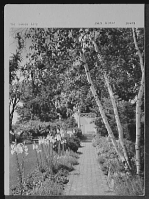 Seventy-one years, or, My life with photography. Garden gate, July 11, 1940