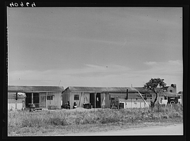 Shacks for migratory workers of the Phillips Packing Company in Vienna, Maryland