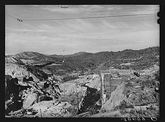 Shasta Dam, under construction. Shasta County, California