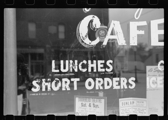 Short order cafe, Moorhead, Iowa