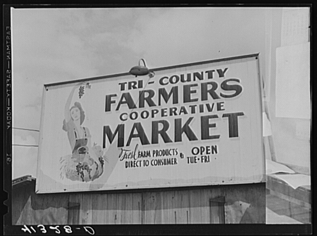 Sign costing thirty dollars at Tri-County Farmers Co-op Market in Du Bois, Pennsylvania