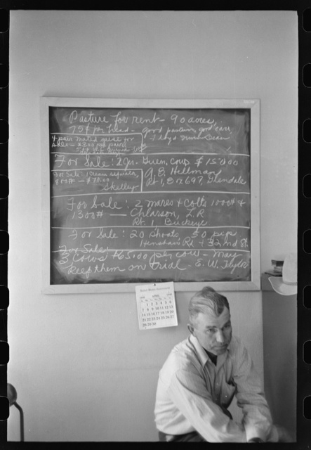 Sign in the Rural Rehabilitation Office of the FSA (Farm Security Administration) of Phoenix, Arizona