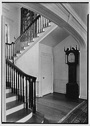 Silliman College, Yale University, New Haven, Connecticut. Master's house, staircase