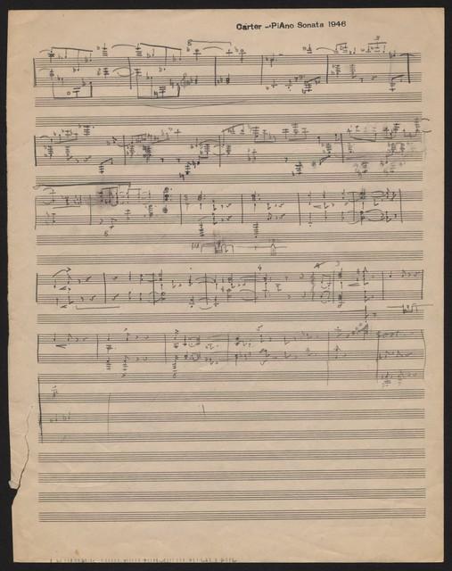Sketches for piano sonata