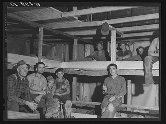 Sleeping quarters provided for pickers working at the Woodman Potato Company eleven miles north of Caribou, Maine