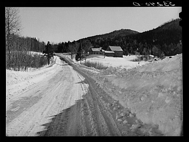 Small farmhouse and barn near Barnard. Windsor County, Vermont