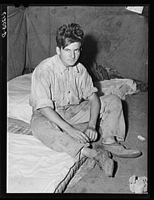 Son of migrant fruit picker from Florida. Berrien County, Michigan