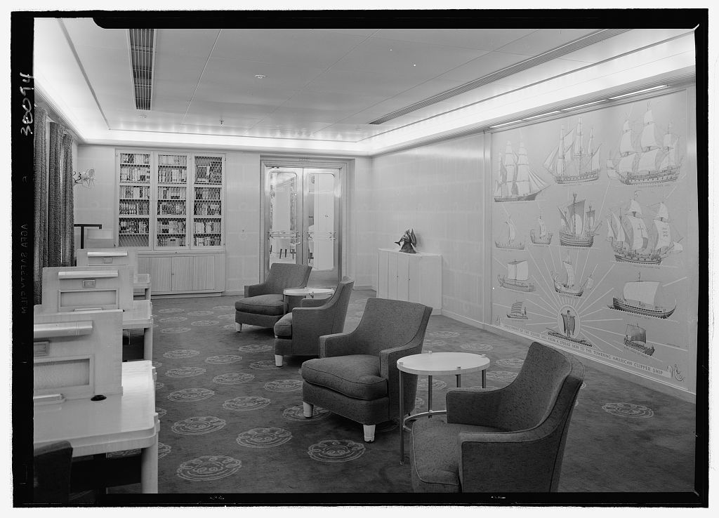 S.S. America, United States Lines. Library I