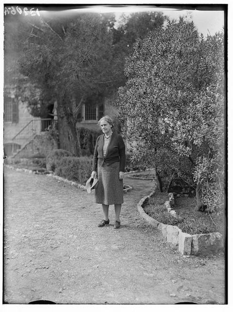 St. Andrew's Church. Mrs. McRae[?] in garden