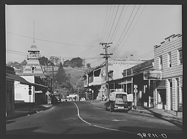 Street through Auburn, county seat of Placer County, California