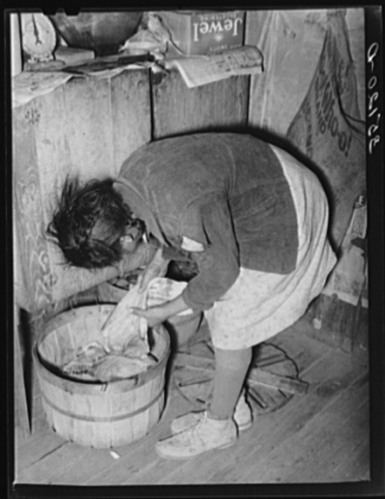Supply of home-cured bacon in the home of Pomp Hall, Negro tenant farmer. Creek County, Oklahoma. See general caption number 23