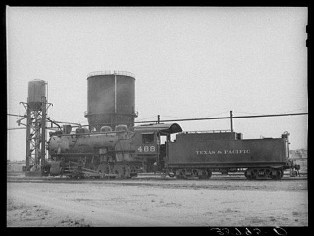 Switching engine in yards at Big Spring, Texas