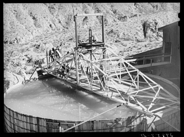 Tank used in purifying gold and silver ore. El Dorado Canyon, Clark County, Nevada