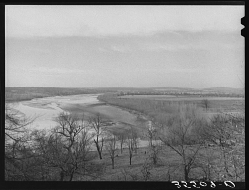 The Canadian River. McIntosh County, Oklahoma