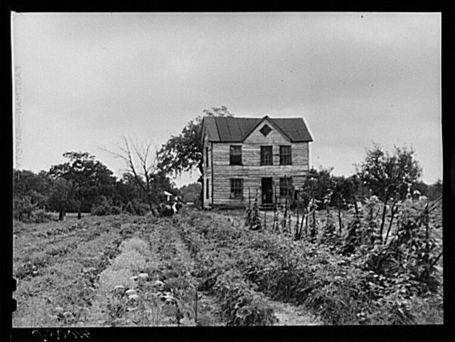The house and home garden of William Sanders, Negro farmer, who has just begun receiving FSA (Farm Security Administration) aid. Saint Inigoes, Maryland