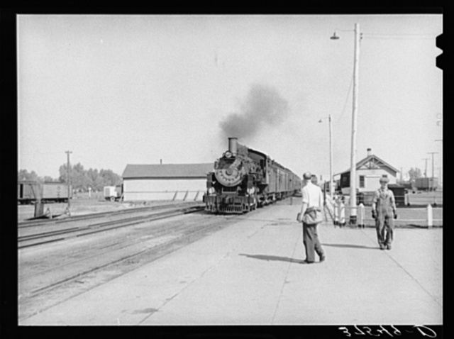 The morning train comes into Montrose, Colorado