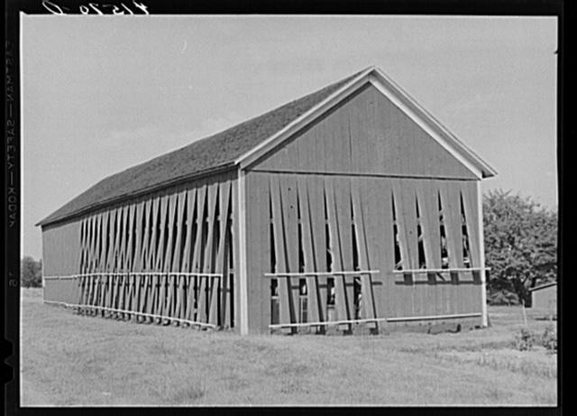 Tobacco barn on a farm near Windsor Locks, Connecticut