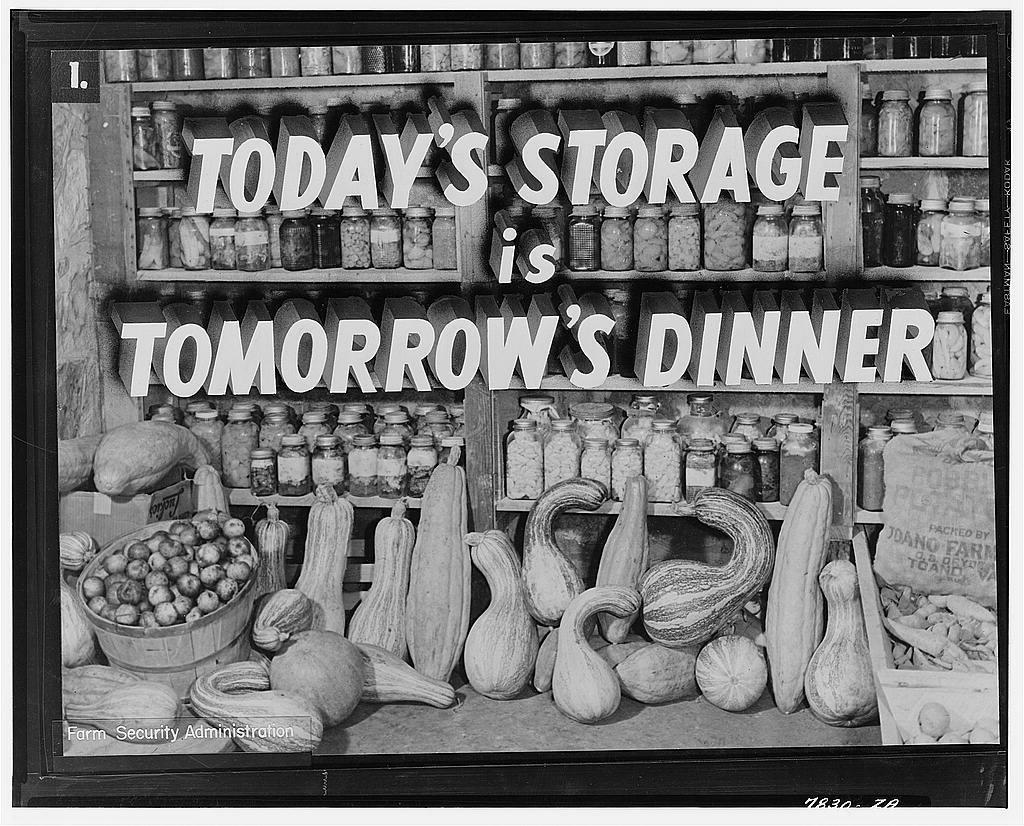 Today's storage is tomorrow's dinner