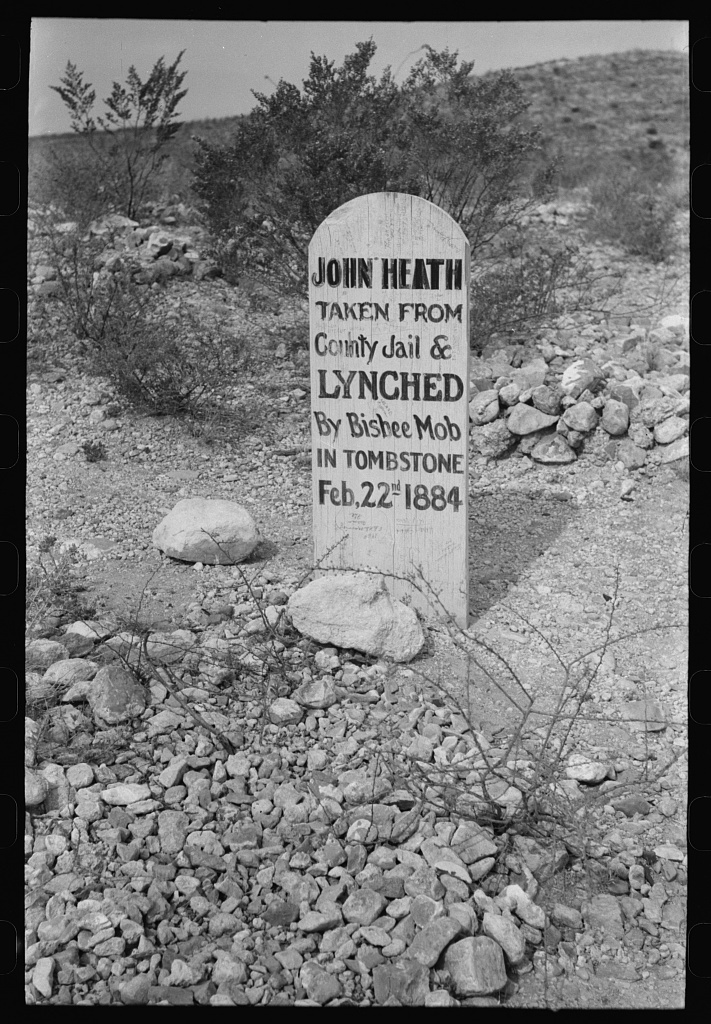 Tombstone in Boot Hill Cemetery, Tombstone, Arizona - PICRYL
