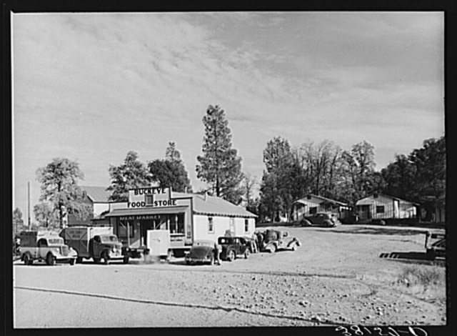 Town of Buckeye, California, now a boom town near Shasta Dam