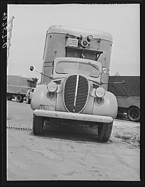Truck in trucker's service station on New York Avenue at Bladensburg Road, Washington, D.C., along U.S. No. 1