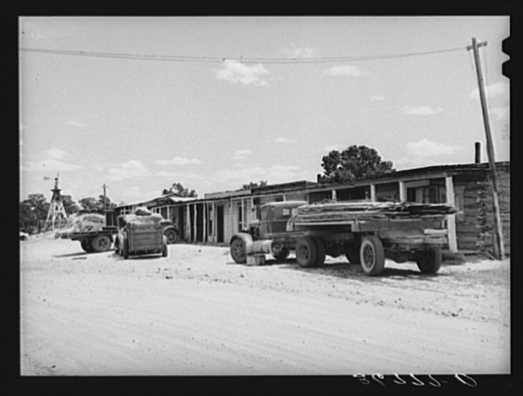 Photograph of  WWI USMC Marines Motor Pool Trucks 1917c  8x10