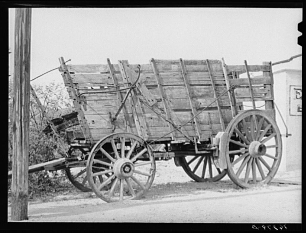 Twenty-mule team wagon on display at the Bird Cage Theater museum in Tombstone, Arizona