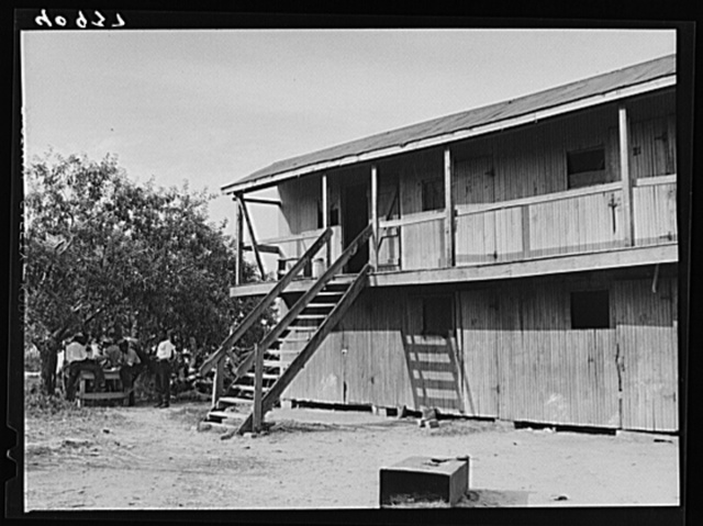 Two-story structure for housing migratory workers at Bridgeville, Delaware