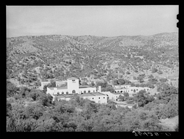 Tyrone, New Mexico, a town developed by the Burro Mountain Copper Company, now inactive, but which is developing the town as a summer resort