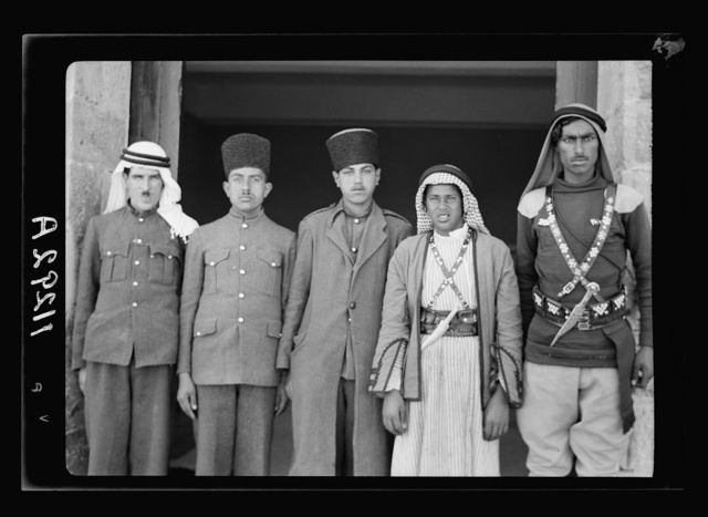 Visit to Beersheba Agricultural Station (Experimental) by Brig. Gen. Allen & staff & talks to Bedouin sheiks of district by station superintendent. Mohammed (Mr. Bell's servant), a camelman & 3 office messengers