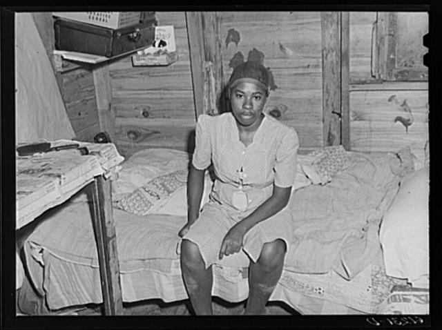 Wife of migrant fruit picker. Berrien County, Michigan