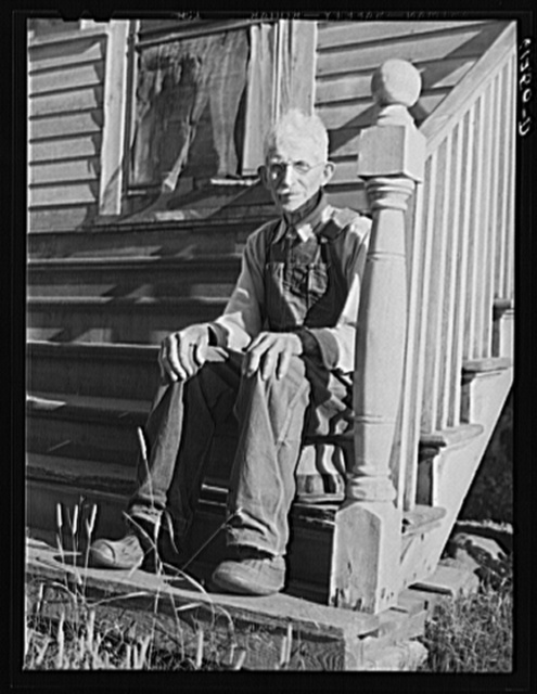 Wisconsin farmer, FSA (Farm Security Administration) rehabilitation borrower. Door County, Wisconsin