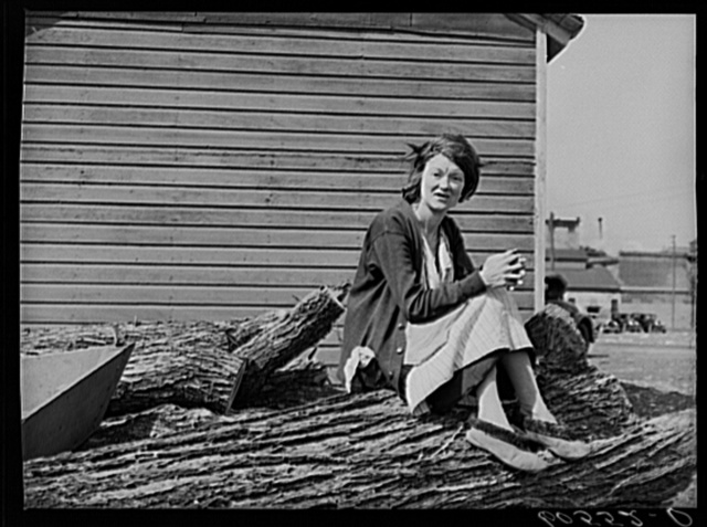 Woman who lives in shack town along Mississippi River bottoms. Dubuque, Iowa
