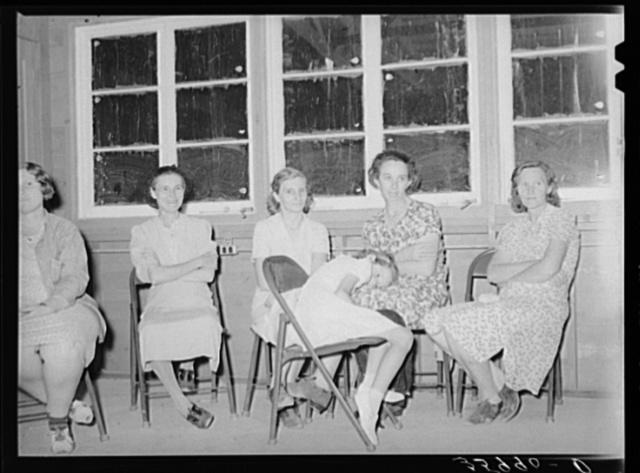 Women members of the camp committee at the migratory labor camp. Aqua Fria, Arizona