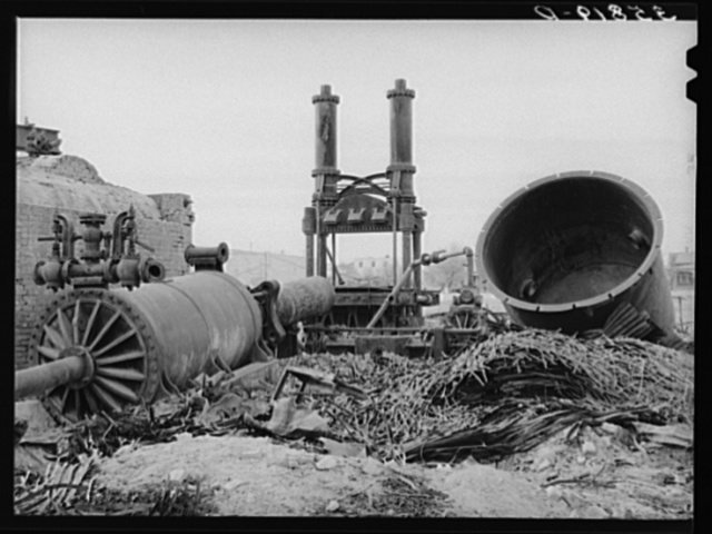 Wreckage of cotton gin and compress, Big Spring, Texas. They were destroyed by fire