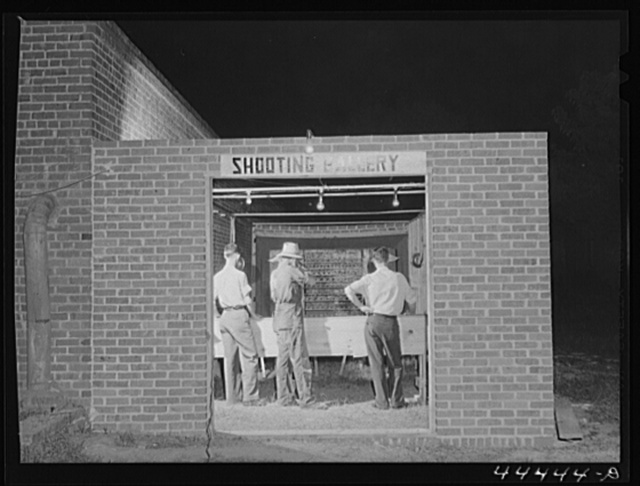 A newly-constructed shooting gallery in Childersburg, Alabama